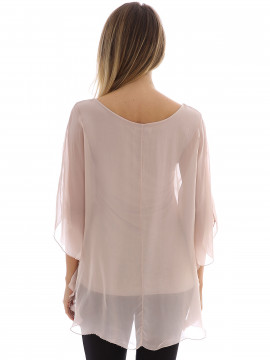 Gila & Feldt Otta plain silk top - Pearl rose