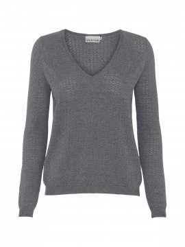 Gila & Feldt Kai V-neck knit - Grey