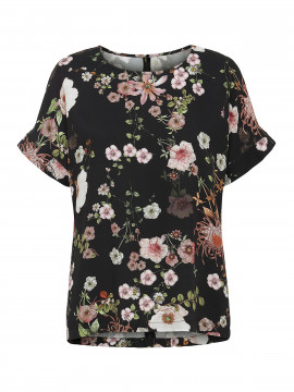 One Two Luxzuz Brunhild top - Black flower