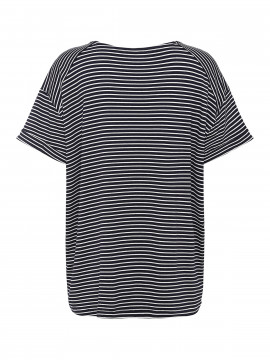 One Two Luxzuz Karin Stripe tee - Dark blue