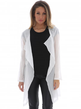 Chopin Ea long jacket - White