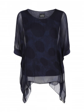 Chopin Rina dot top - Blue