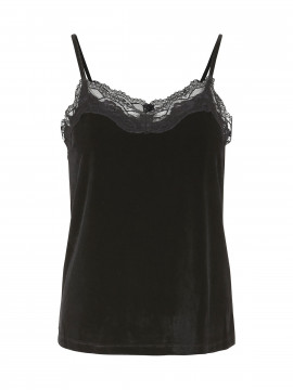 Chopin Rill velour top - Black