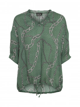Chopin Sille Chain top - Green