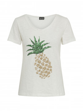 Chopin Sally Pineapple tee - White