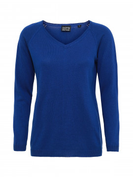 Chopin Sarah v / neck knit - Blue
