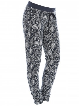 Blue Sportswear Beate tight pant - Blue flower print