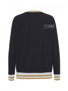Blue Sportswear Camille stripe sweat - Black