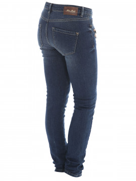 Mos Mosh Berlin zip long jeans - Dark blue