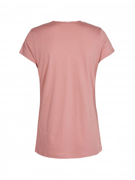 Mos Mosh Crave Rivet Tee - Ash rose