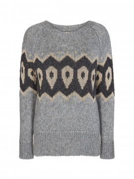 Mos Mosh Mildred knit - Grey