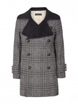 Mos Mosh Miranda Check coat - Grey check