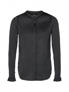 Mos Mosh Mattie satin shirt - Black