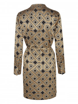 Mos Mosh Lipa printed dress - Golden print