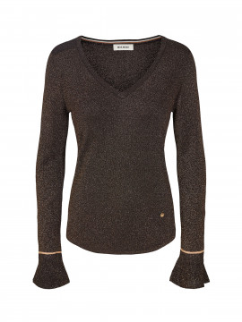 Mos Mosh Jewel knit w/lurex L/S - Black