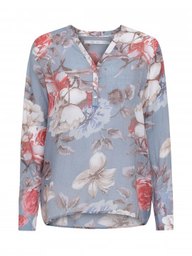 Costamani Alexia flower shirt - Light blue