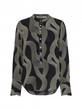 Costamani Lexis abstrct top - Black