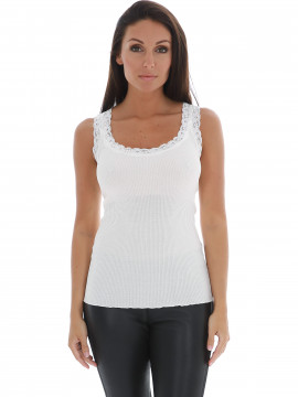Soft Rebels Silk rib camisole - Broken white
