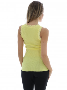 Soft Rebels Silk rib camisole - Citrus