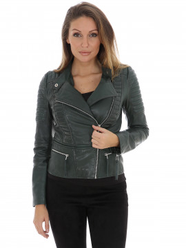 Object Rake leather jacket - Scarab