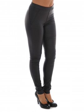 Object Belle legging - Black coated