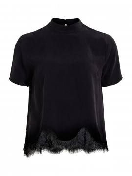 Object Lacie S/S top - Black