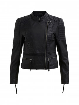 Object Rake leather jacket - Black