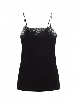 Object Leena lace singlet - Black