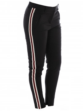 CS#15 Shane pant - Black w/ white & red stripe