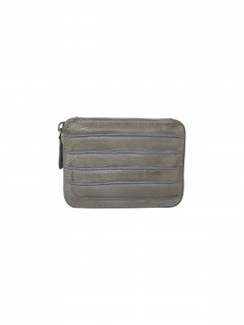 Black Colour Line wallet - Grey