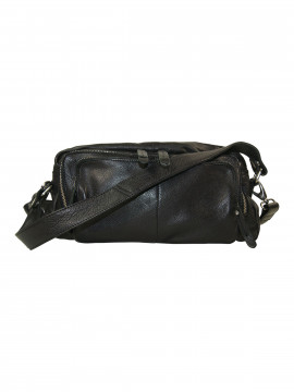 Black Colour Rock zipped bag - Black