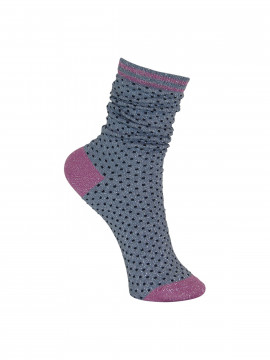 Black Colour Lurex dotted sock - Jeanspink