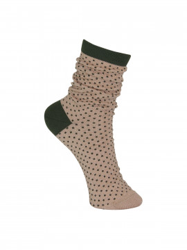 Black Colour Lurex dotted sock - Powderarmy