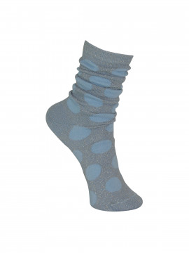 Black Colour Jumbo dot sock - Sky blue