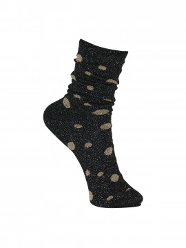 Black Colour Glitter dot sock - Blackgold