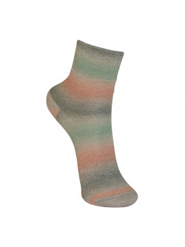 Black Colour Multi glitter sock - Olive