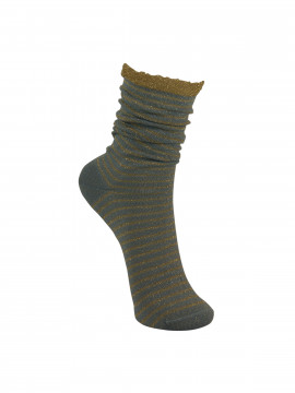 Black Colour Stripe sock - Skybluegold