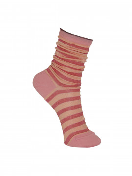 Black Colour Street stripe sock - Pink