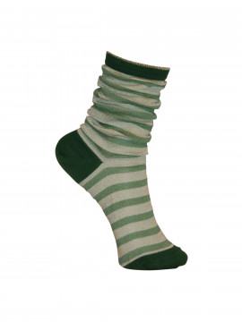 Black Colour Street stripe sock - Green