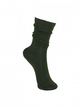 Black Colour Lurex sock - Army