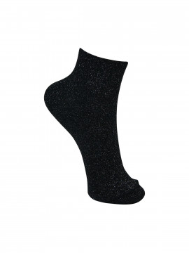 Black Colour Anclet glitter sock - Black