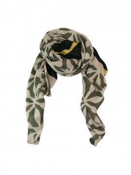 Black Colour Mansion scarf - Olive