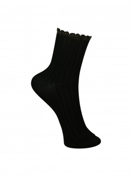 Black Colour Chic sock - Black