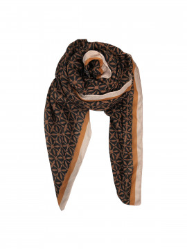 Black Colour Palazzo scarf - Camel