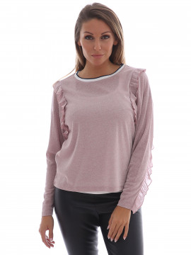 Continue Babette shine top - Rose