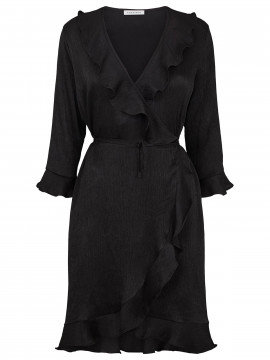 Continue Dalia wrap dress - Black