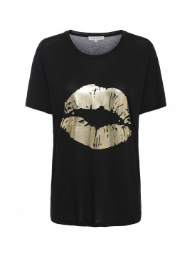 Continue Dea Lip tee - Black