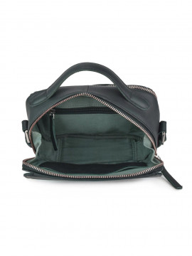 Daniel Silfen Holly handbag - Dark green leather