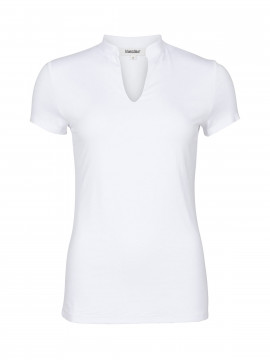 Blue on Blue Femme Silje S/S top - White