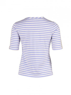 Saint Tropez Striped Tee - Lavender
